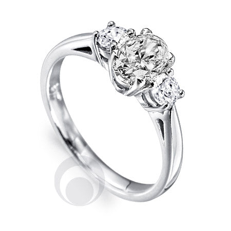 Diamond Platinum Engagement Ring - PRC2007-45Si