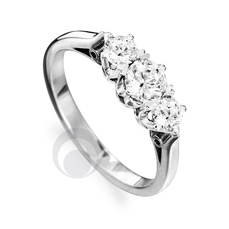 Diamond Platinum Engagement Ring - PRC2008-30Si