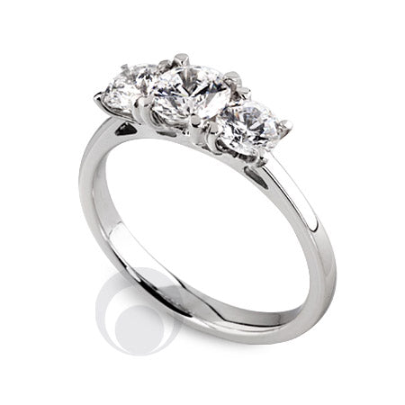 Diamond Platinum Engagement Ring - PRC2009-40Si