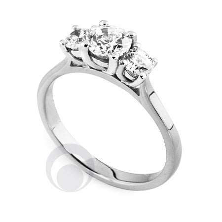 Diamond Platinum Engagement Ring - PRC2010-50Si