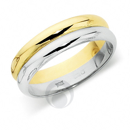 Platinum Wedding Ring Two Colour - PL409IP