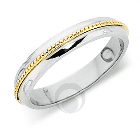Platinum Wedding Ring Two Colour - PL412