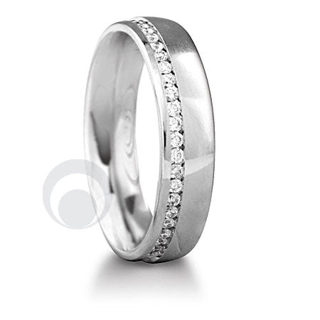 Diamond Platinum Wedding Ring - PRC010W-4P