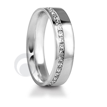 Diamond Platinum Wedding Ring - PRC011W-4P