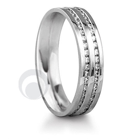 Diamond Platinum Wedding Ring - PRC012W