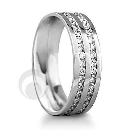 Diamond Platinum Wedding Ring - PRC014WP