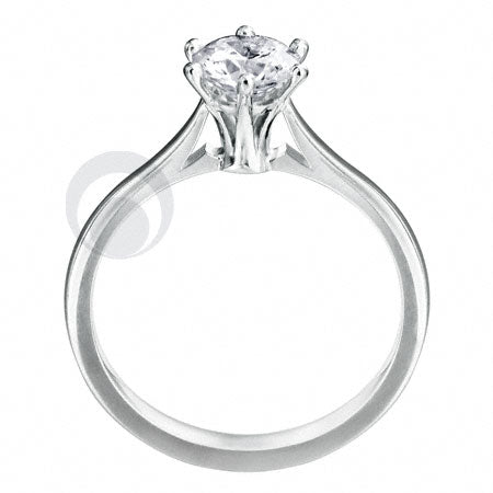 Diamond Platinum Engagement Ring - PRC01DC-30