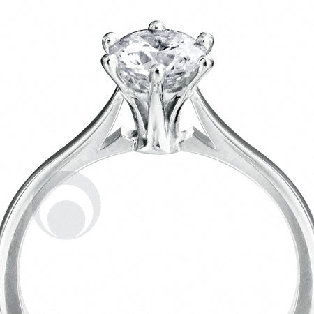 Diamond Platinum Engagement Ring PRC01DC 2