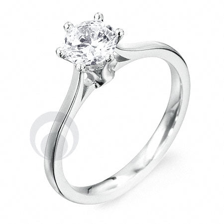 Diamond Platinum Engagement Ring PRC01DC 3