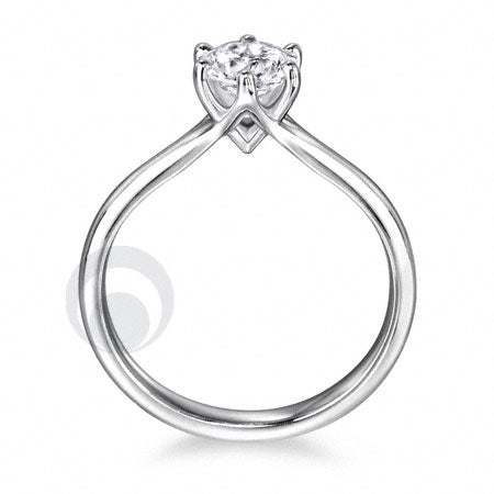 Diamond Platinum Engagement Ring - PRC02DC-25