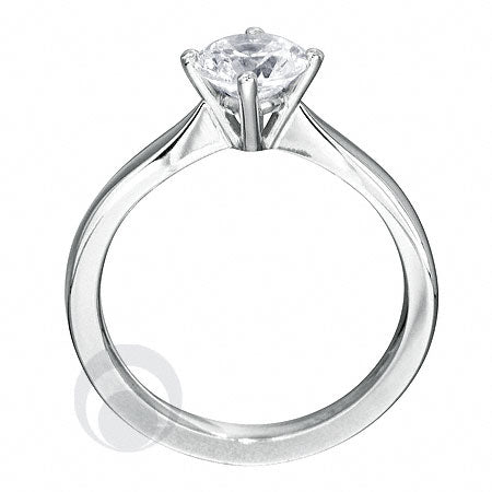 Diamond Platinum Engagement Ring - PRC04DC-25