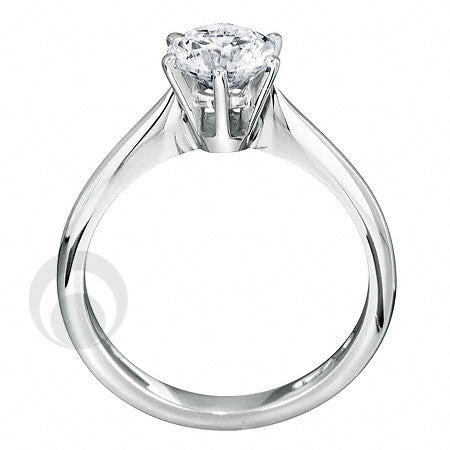 Diamond Platinum Engagement Ring - PRC05DC-25