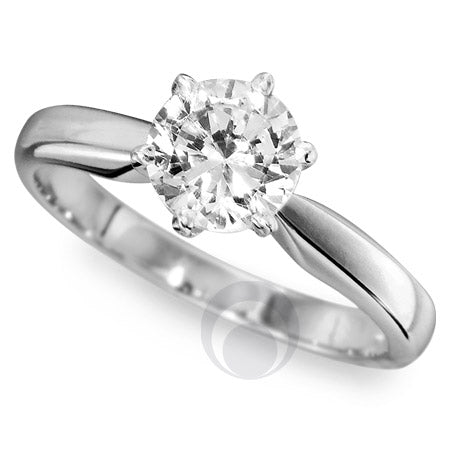 Diamond Platinum Engagement Ring - PRC06DC-25
