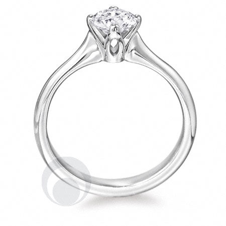 Diamond Platinum Engagement Ring - PRC07DC-25