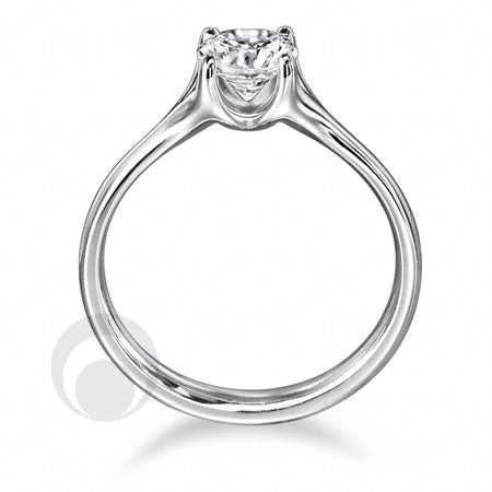 Diamond Platinum Engagement Ring - PRC08DC-30