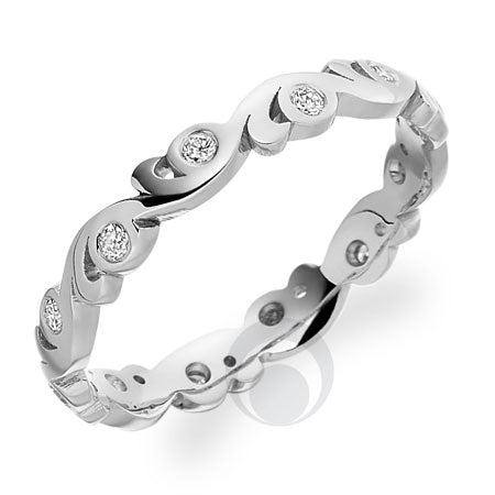Diamond Platinum Wedding Ring - PRC0974