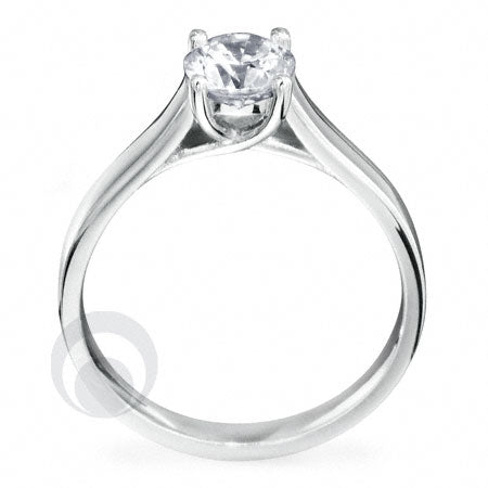 Diamond Platinum Engagement Ring - PRC09DC-25
