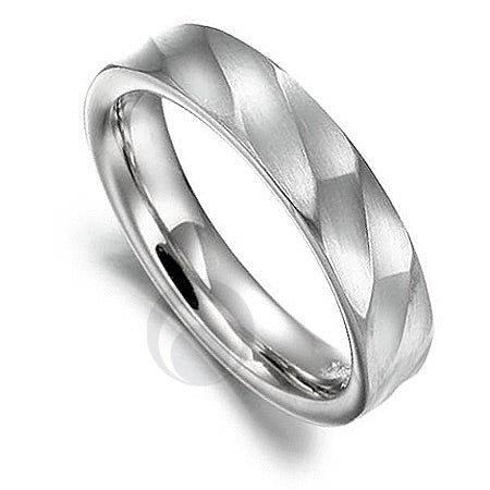 Vision Dunes Platinum Patterned Wedding Ring - PRC1001V-5IP