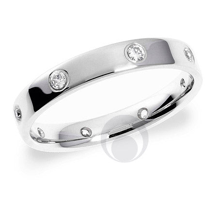 Diamond Platinum Wedding Ring - PRC1001P
