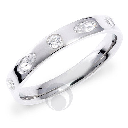 Diamond Platinum Wedding Ring - PRC1002P