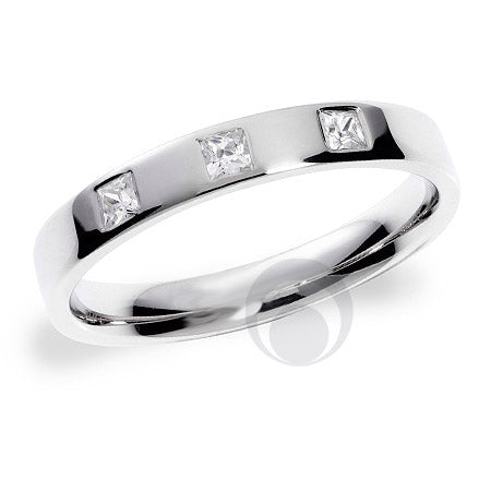 Diamond Platinum Wedding Ring - PRC1003P