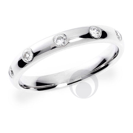 Diamond Platinum Wedding Ring - PRC1004P