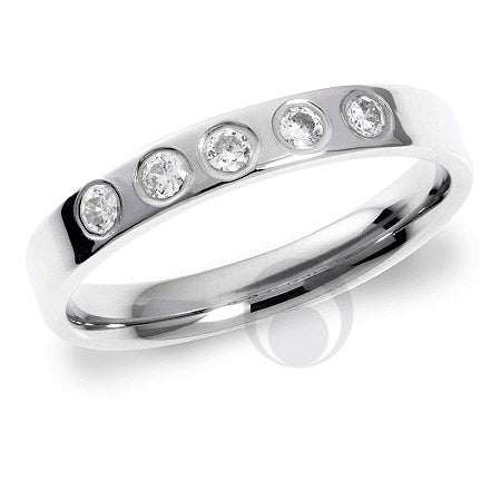 Diamond Platinum Wedding Ring - PRC1006P