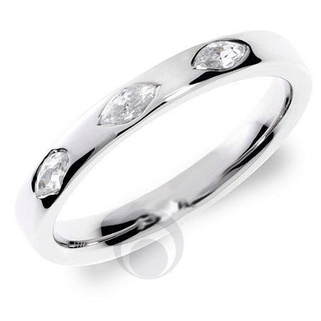 Diamond Platinum Wedding Ring - PRC1008P