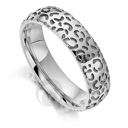 Platinum Wedding Ring - Safari Cheetah II - PRC1022SIP