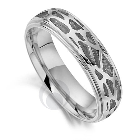 Platinum Wedding Ring - Safari Giraffe II - PRC1023SIP