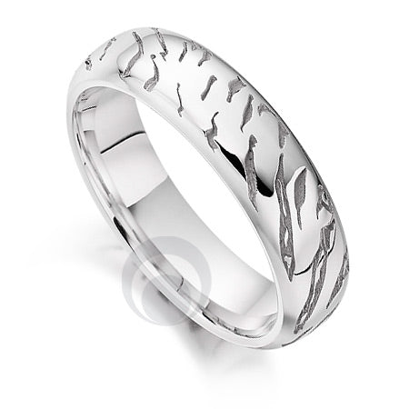 Platinum Wedding Ring - Safari Tiger - PRC1029SIP