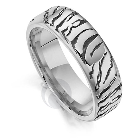 Platinum Wedding Ring - Safari Tiger II - PRC1030SIP