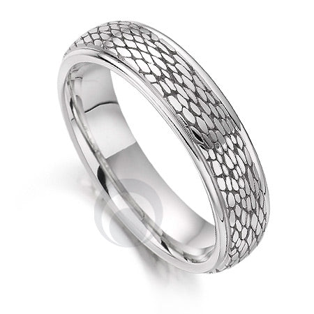Platinum Wedding Ring - Safari Snake - PRC1031SIP