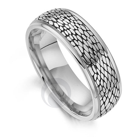 Platinum Wedding Ring - Safari Snake II - PRC1032SIP