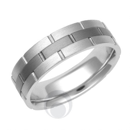Titanium and Platinum Wedding Ring - PRC1113TIP