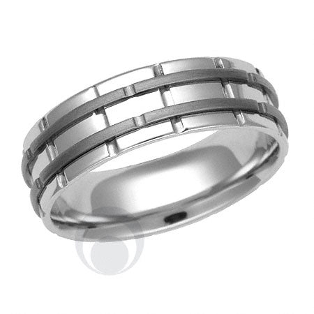 Titanium and Platinum Wedding Ring - PRC1425TIP