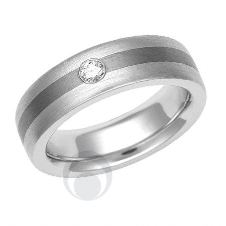 Titanium and Platinum Wedding Ring - PRC1615TIP