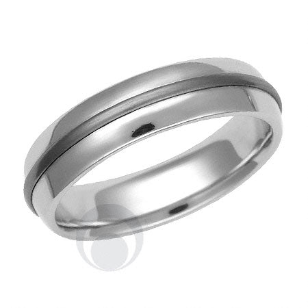Titanium and Platinum Wedding Ring - PRC1617TIP