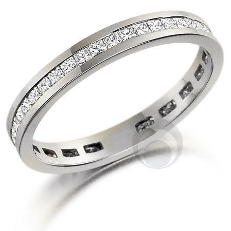 Channel Set Eternity Ring - PRC258W