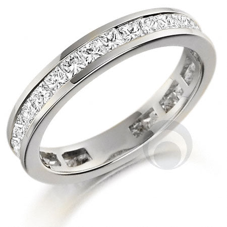 Channel Set Eternity Ring - PRC260W