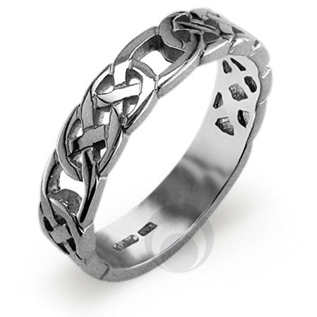Platinum Celtic Wedding Ring - PRCCELTIC10PGP