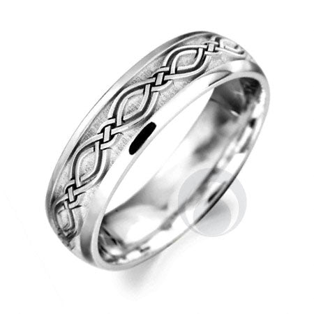 Platinum Celtic Wedding Ring - PRCCELTIC2-GP