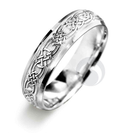 Platinum Celtic Wedding Ring - PRCCELTIC4-GP