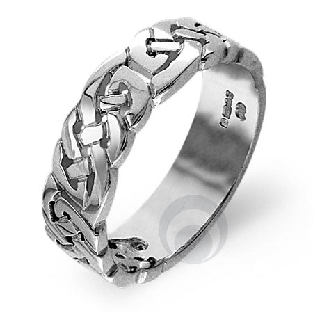 Platinum Celtic Wedding Ring - PRCCELTIC6P-GP
