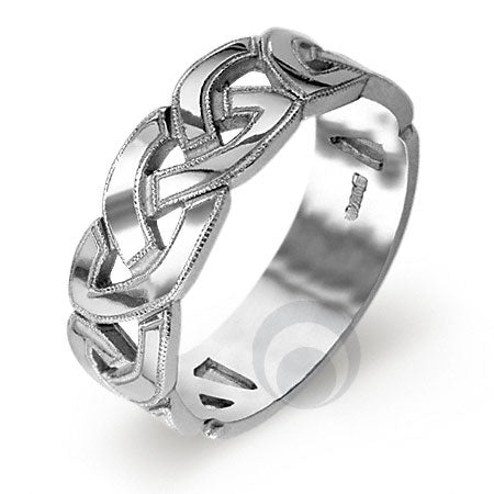 Platinum Celtic Wedding Ring - PRCCELTIC7-GP