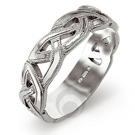 Platinum Celtic Wedding Ring - PRCCELTIC8-GP