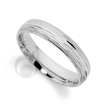 Platinum Patterned Wedding Ring - PRCCT5135-3