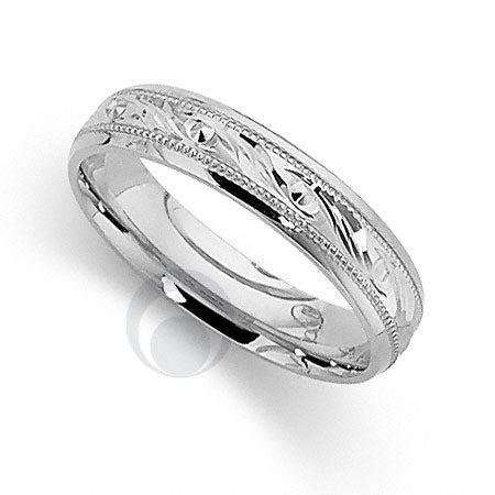 Platinum Patterned Wedding Ring - PRCCT5242-4GP
