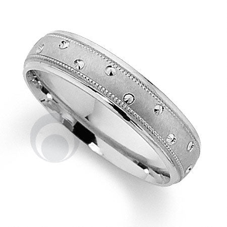 Platinum Patterned Wedding Ring - PRCCT5488-4GP