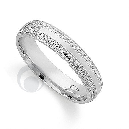 Platinum Patterned Wedding Ring - PRCCT5600-4GP